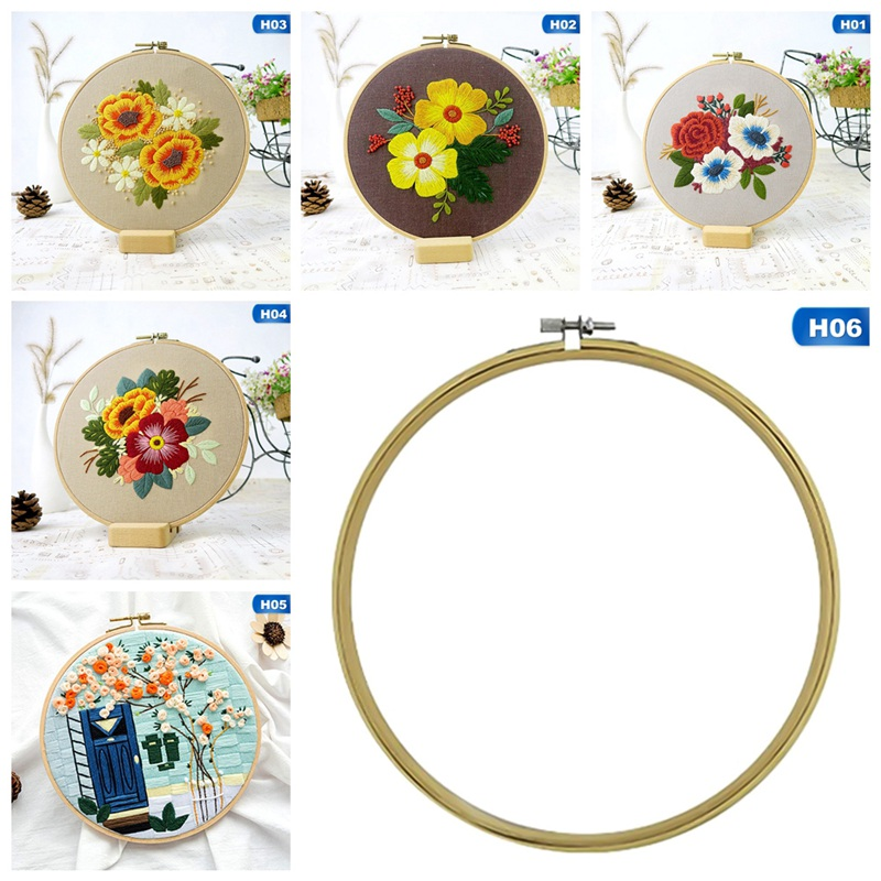 Sewing Arts Crafts DIY Embroidery Cross Stitch Kits Hoop Handmade Cartoon Flower Patterns Needlework Set with Embroidery-1