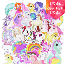 30Pcs Unicorn Stickers For Suitcase Car Skateboard Snowboard Laptop Cell Phone Motorcycle Bicycle Mixed Waterproof