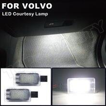 2Pcs LED Courtesy Trunk-Boot Licht Tür Lampe Für Volvo XC40 XC70 XC90 V60 S60 S80 V40 V40CC Fußraum lampen