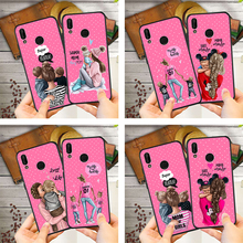 DIY Super Mama Baby Mouse Girl Boy Custom Phone Case For Huawei p20 Pro P30 P9 Mate 20 Lite Honor 8X 9 10 Etui Cover