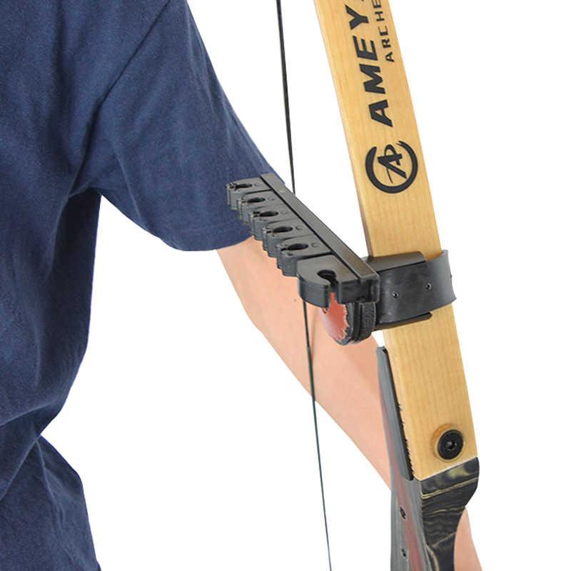 6-setas de tiro com arco quiver impasse lite seta quiver resto sem setas para arco composto caça e recurvo tiro acessórios