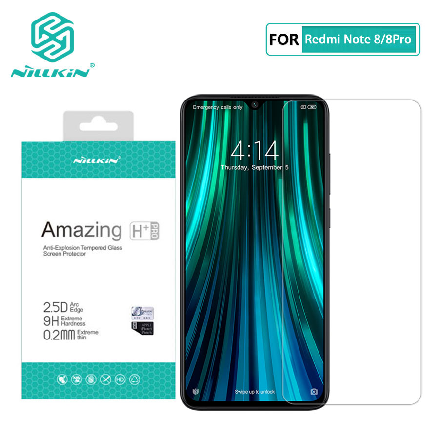 Redmi Note 8 Pro Glass Nillkin Amazing H+Pro 0.2MM 2.5D Screen Protector Tempered Glass for Xiaomi Redmi Note 8 Note8 Pro