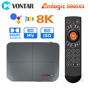 AX95 4GB 128GB Smart TV Box Android 9.0 Amlogic S905X3 4K 8K Support Dolby BD MV BD ISO Dual Wifi Youtube Media player