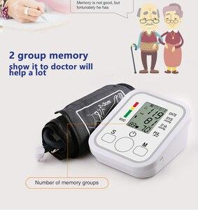 Image 2 - Otomatik dijital Lcd üst kol kan basıncı monitörü kalp yendi hızı darbe ölçer tonometre tansiyon aleti pulsometer