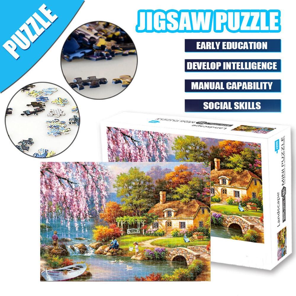 Puzzle 1000 Piece Toys Jigsaw Picture Large Game Interesting Personalized Gift Adults Children Kids Games Educational Toys игры