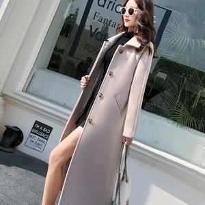 Image 2 - Ailegogo New Autumn Women Korean OL Style Long Coat Casual Turn Down Collar Single Breasted Loose Fit Female Outwear