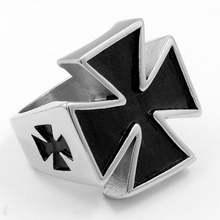 Новое христианское кольцо в форме Креста мужское модное крестоносца