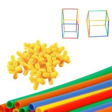 400pcs Straw Constructor Interlocking Enginnering Toys Straws and Connectors Set Kids Educational Toys(China)