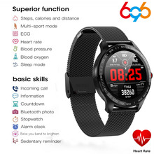 Bluetooth Smart Watches L9 ECG Heart Rate Blood Pressure Oxygen Calls Reminder Waterproof Watch Men Women For Android IOS Phone(China)