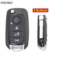 Складной флип 4 кнопки дистанционного управления умный Автомобильный ключ оболочки чехол SIP22 лезвие для Fiat Toro 500X500 Punto Egea Tipo для Dodge Neon Key