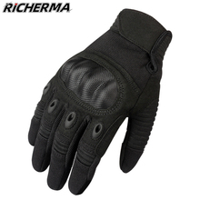 Winter Motorcycle Gloves Black Hard Knuckles Protective Gloves Men Women Durable Touch Screen Tactical Gloves For Snowmobile