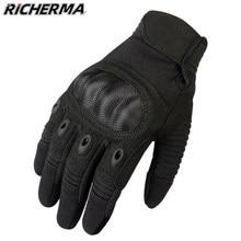 Inverno luvas da motocicleta preto duro knuckles luvas de proteção das mulheres dos homens durável tela sensível ao toque luvas táticas para snowmobile