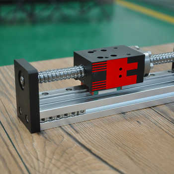 FUYU Horizontal Vertical Usage 200mm stroke Motorized Nema 23 Stepper Motor Linear Motion Guide Slide Rail For Cnc Machine