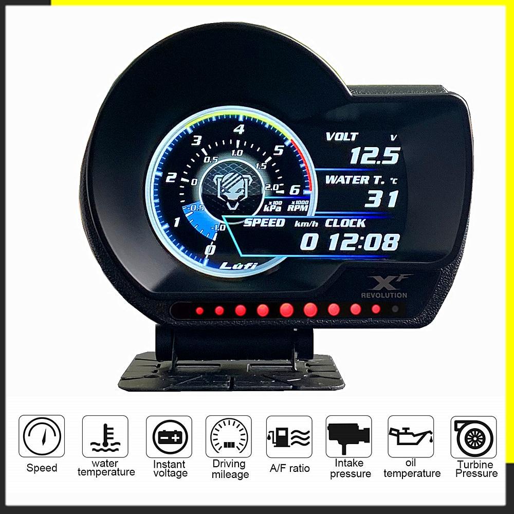 Цифровой измеритель давления масла LUFI XF, OBD2 Измеритель температуры и уровня топлива, для автомобилей, Afr RPM