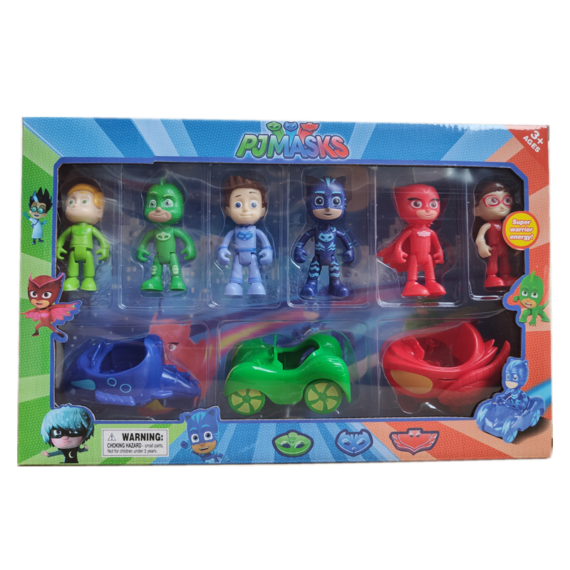 Pj Masks Dolls Toys Sets Juguete Catboy Owlette Gekko TV 9/11pcs PJ Masks Anime Figures Model Car Outdoor Active Toys For Kids