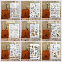 New Design Stencils for DIY Scrapbooking Plastic Flower Handmade Template Crafts Art Diary Decor Painting Drawing Spray Sticker