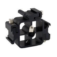 цена на 3 In 1 All-Metal Tri-Hot Shoe Flash Holder Bracket Mount Adapter Umbrella Holder For Light Stand Tripods