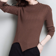RICININA Cashmere Sweater Women Turtleneck Full Sleeve Casual Sweaters Ladies Plus Size Knit Pullovers Fall For