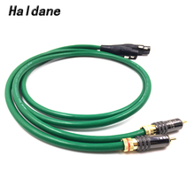 Haldane Pair Type-WBT-0144 RCA to XLR Balacned Audio Cable RCA Male to XLR Female Interconnect Cable with MCINTOSH USA-Cable haldane pair wbt 0144 rca to xlr male to male balacned audio interconnect cable xlr to rca cable with cardas clear light usa