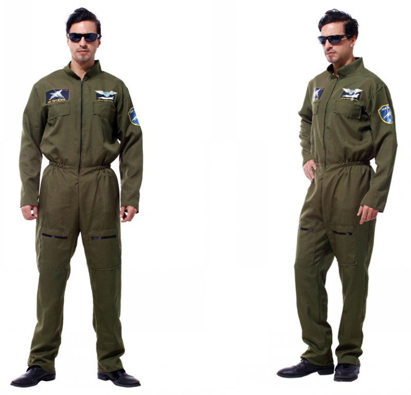 Adult Male Special Force Romper Halloween Cosplay Costumes Green Soilder Party Masquerade Role Play Disfraz