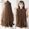TALANG 60 см 5 зажимов для наращивания волос термостойкие поддельные Шиньоны Длинные волнистые прически синтетические клипсы для наращивания в...