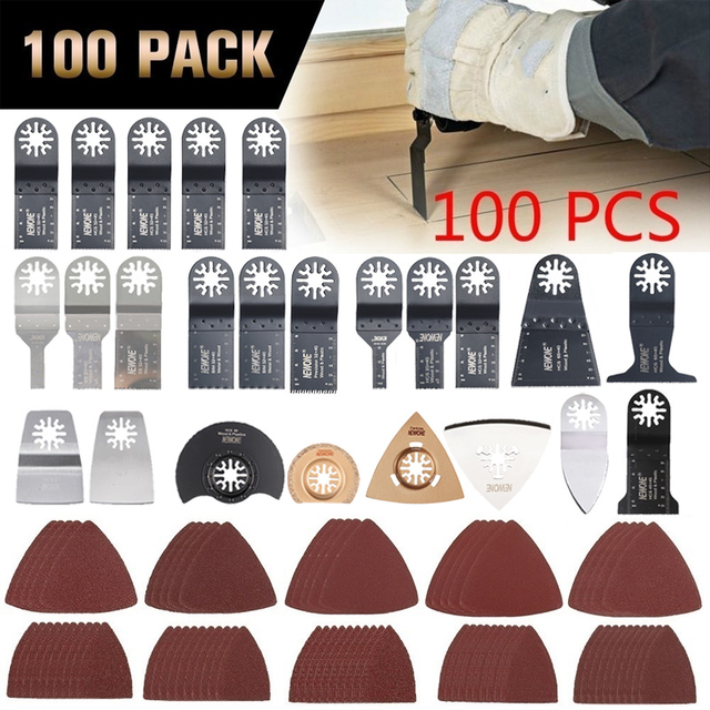 NEWONE Multi Oscillating Saw Blades Combo HCS/Japan tooth/Bi metal Electric Renovator saw blades Accessories for Woodworking