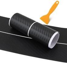 Auto Auto Carbon Faser Schutz Aufkleber Tür Sill Anti Scratch Streifen Stoßstange Hinten Schutz Protector 104/90cm