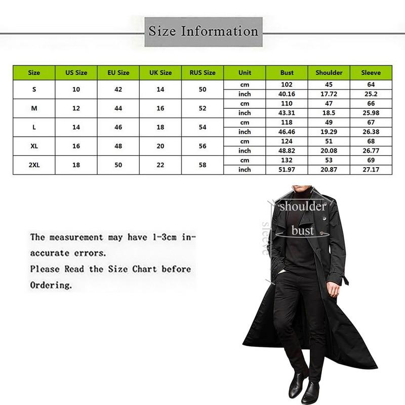 H68390297f9004f049c7e9d38c0e5fd86c gentleman Long Slim Men Trench Coat Double-breasted Lapel Windbreaker Male Fashion Autumn Winter Coat Long Design Trench Male
