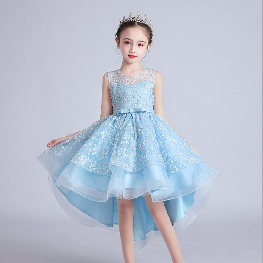 Flower Vintage Embroidery Baby Girls Dress Opening Ceremony Clothing Party Elegant Wear Girls Princess Dress Kids Vestidos 1