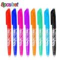 Schüler Schreiben Werkzeuge Büro Schreibwaren Schule geschenk 8 stücke/lot 0,5mm Löschbaren Stift Refills Bunte 8 Farbe Kreative zeichnung Werkzeuge