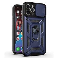 Cho iPhone 11 12 Pro Max 12 Mini SE 2020 7 8 Plus Ốp Lưng Sang Trọng Giáp Vòng Nam Châm Ốp Lưng Điện Thoại cho iPhone X XR XS Max 11 Pro Max