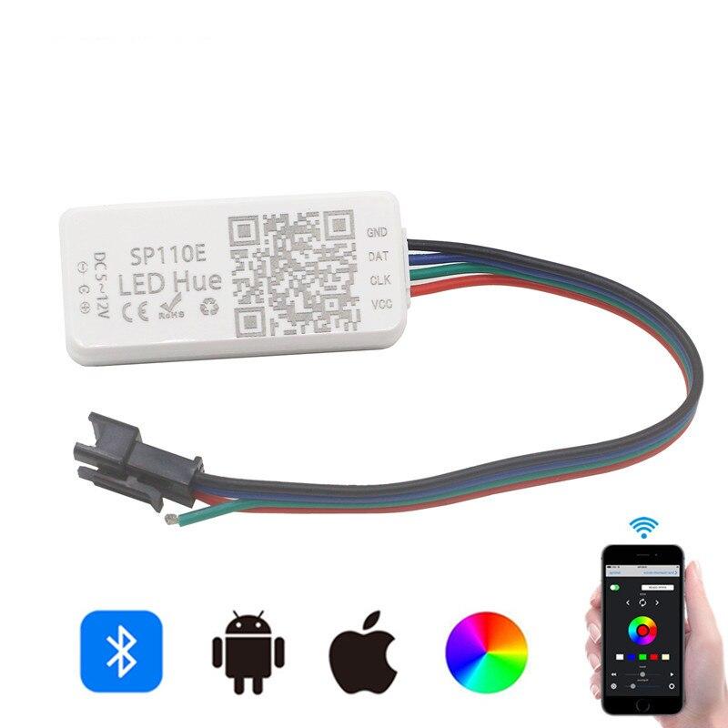 SP110E SP501E RGB LED Pixel Controller For  WS2811 WS2812B SK6812 Strip Light