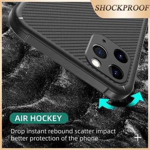 Image 4 - Musubo הלחמת פחם מקרה עבור iPhone 11 פרו מקס רך עמיד הלם סיליקון הגנה חזרה כיסוי מקרה יוקרה Funda i11 פרו coque