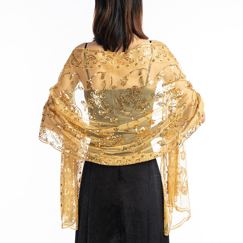 2020 Spring Shawl Sequin Bolero Wrap Women Short Cape Jacket Shrug Chaqueta De La Boda Evening Cape