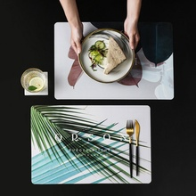 Nordic StyleWaterproof Oil Stain Proof Place mat Washable Bending  Potholder Mat Kitchen Decoration Accessories