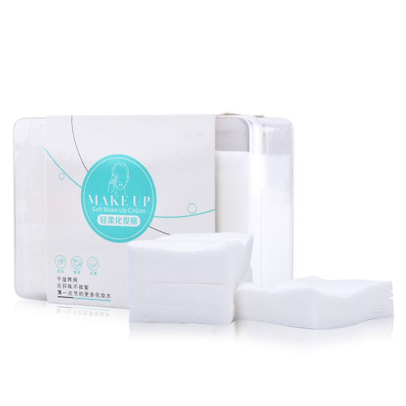 200Pcs/box White Non-woven Cotton Pads Makeup Remover Wipes Paper Facial Cleansing Skin Care