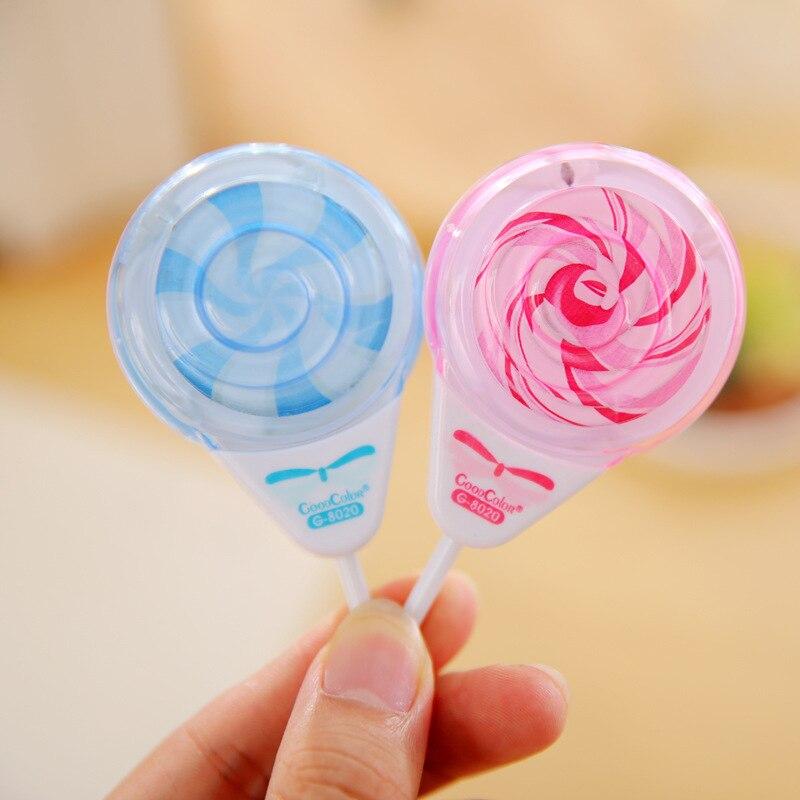 Cute Lollipop Pencil Sharpener Sweet Sharpener Double Hole Cartoon Mini Styling for Kids Gift Stuff School Supplies Stationery