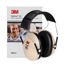 3M H6A Ses yalıtımı Earmuffs SNR: 27db Güvenlik 3M Kulak Koruyucu Gürültü azaltma Ses Geçirmez Kulak muffs Çalışma Için Uyku Çalışma