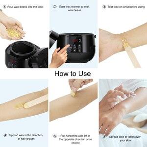 Image 5 - воскоплав для депиляции воск для депиляции Восковой нагреватель для удаления волос Профессиональный подогреватель воска спа нагреватель waxx руки ноги волосы воск уход за кожей парафин воск машина комплект воск станок