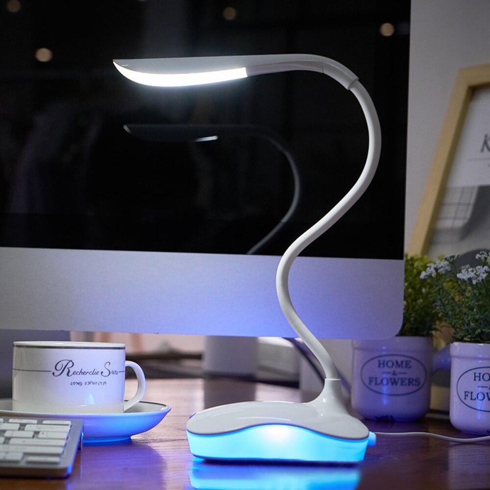 Junejour LED لمبة مكتب اللمس Usb 3 مستوى عكس الضوء Led الجدول مصباح دراسة القراءة ضوء ل مصباح ليلي لغرفة النوم كتاب ضوء