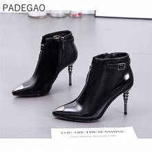Women Winter Shoes 2019 Vintage Casual Womens Boots Fashion High Heels Boots Women