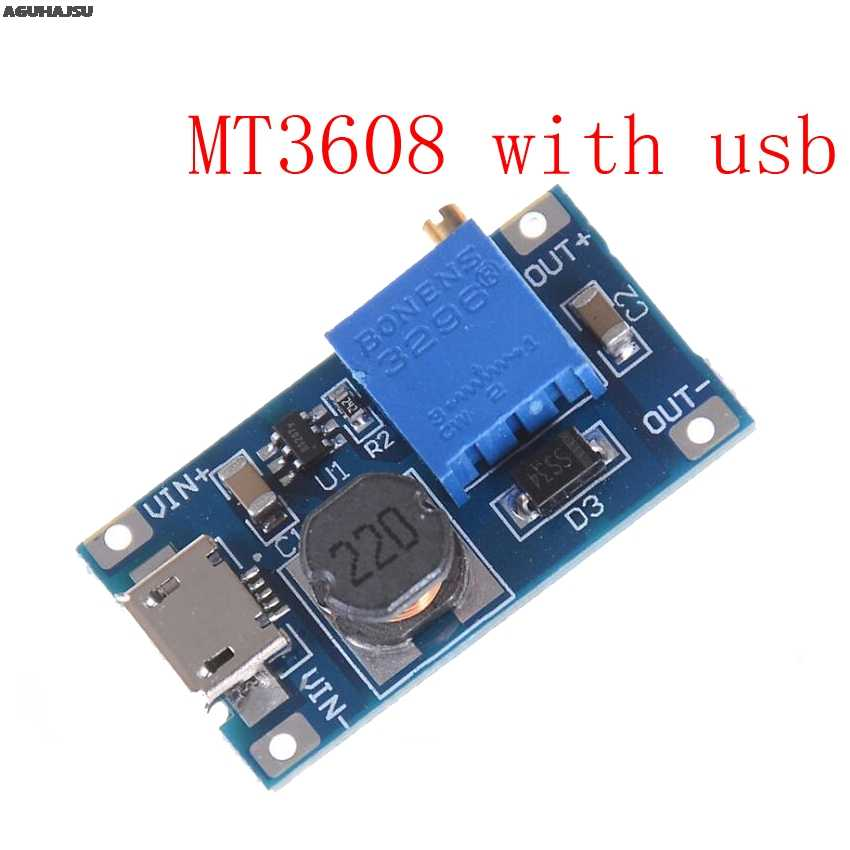 MT3608 DC-DC ayarlanabilir Boost modülü 2A Boost plaka adım modülü ile mikro usb 2 V-24 V için 5V 9V 12V 28V