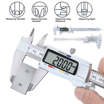 Digital Caliper Stainless Steel Electronic Vernier Calipers 6Inch 0-150mm Metal Micrometer Measuring Caliper Gauges mini 0 150mm metal micrometer measuring tool caliper gauges digital caliper stainless steel electronic digital vernier calipers