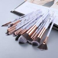 FLD5/15Pcs Makeup Brushes Tool Set Cosmetic Powder Eye Shadow Blush  1