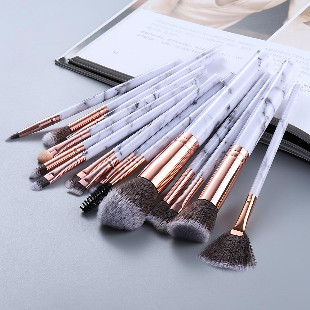 FLD5/15Pcs Makeup Brushes Set Cosmetic Powder Eye Shadow Foundation Blush Blending Beauty Make Up Kabuki Brush Tools Maquiagem