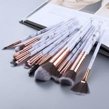 FLD5/15 sztuk pędzle do makijażu zestaw puder do makijażu cień do powiek podkład rozświetlający mieszanie uroda makijaż pędzel Kabuki narzędzia Maquiagem