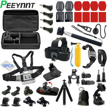 Peeynnt for Gopro Accessories for go pro hero 9 8 7 6 5 4 Set Strap Tripod Kit Mount for Yi 4K DBPOWER AKASO SJ4000 EKEN H9 Case