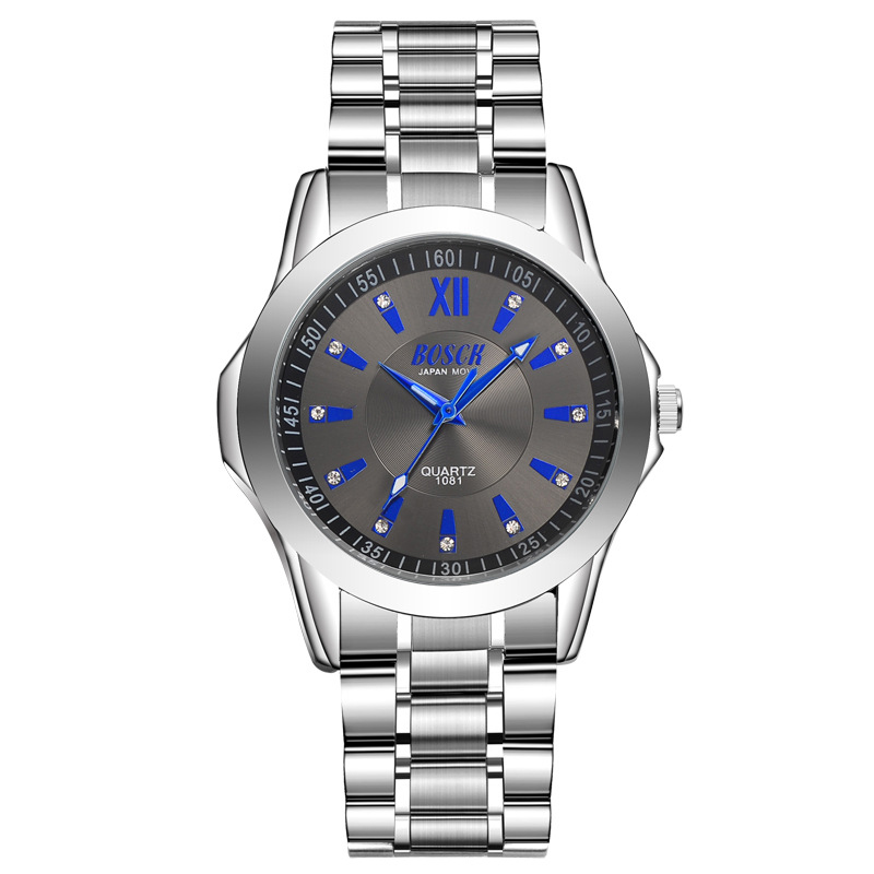 Dropshipping New 2019 Bosck Hot Selling Men's Watch Luxury Full Steel Watches Fashion Quartz Wristwatch Waterproof