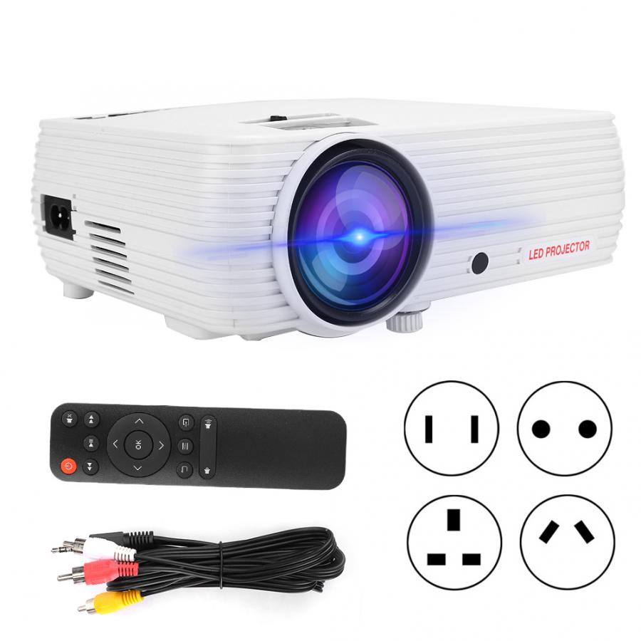 Home Mini LED Projektor Weiß Smart HD Tragbare Home Theater Kein Bildschirm <font><b>TV</b></font> 110V-240V treffen projektor <font><b>proyector</b></font> image