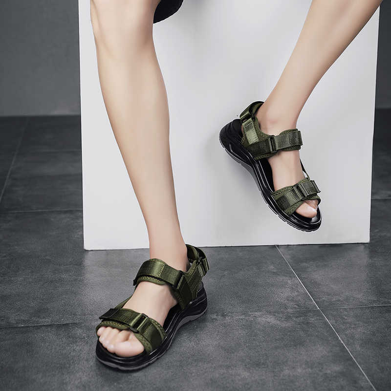 Erkek ayakkabı yüksek kaliteli erkek sandalet yaz erkek ayakkabı plaj açık ayakkabı moda rahat ayakkabı kaymaz Sandalias boyutu 48